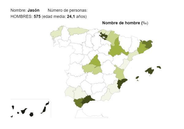 Significado del nombre Jasón - Popularidad del nombre Jasón
