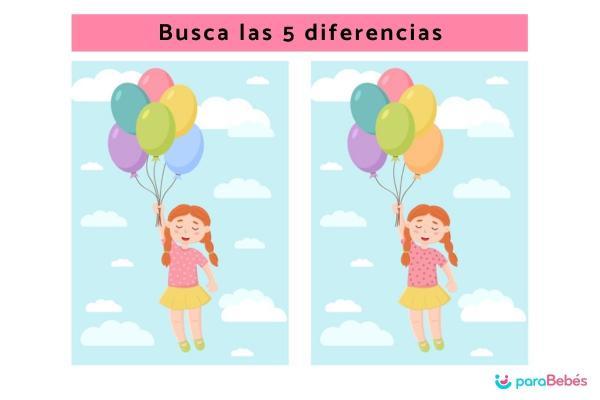Actividades para niños con TDAH - Busca las diferencias