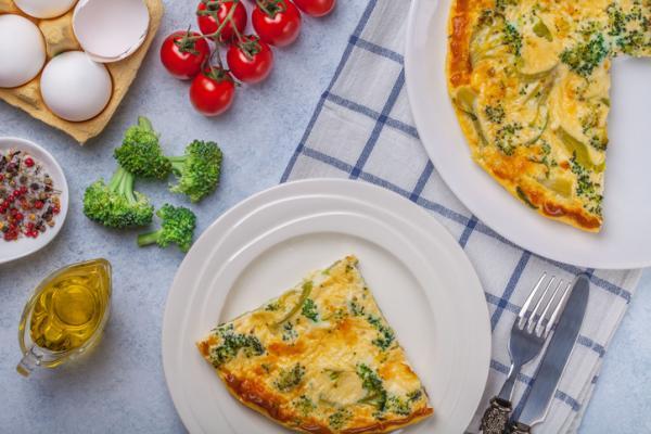 Recetas para bebés de 7 meses - Tortilla de brócoli