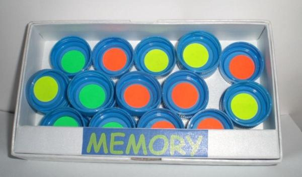 Juegos con material reciclado para niños - Memory