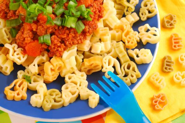 Recetas para bebés de 1 año - Pasta con salsa boloñesa