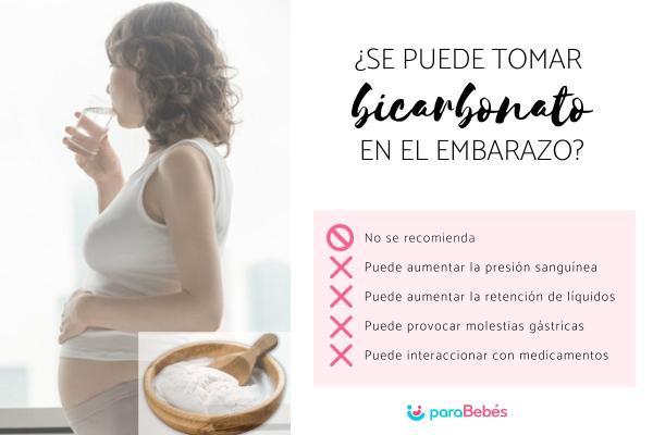 ¿Se puede tomar bicarbonato en el embarazo?