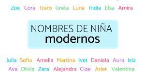 Nombres de niña modernos