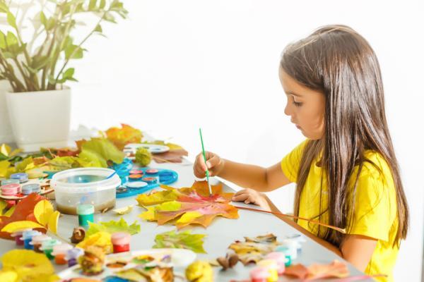 Manualidades para niños de 3 a 5 años - Cuadro de las estaciones