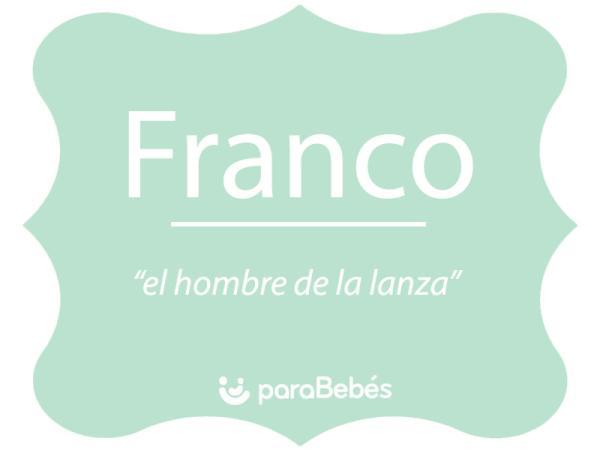 Significado del nombre Franco