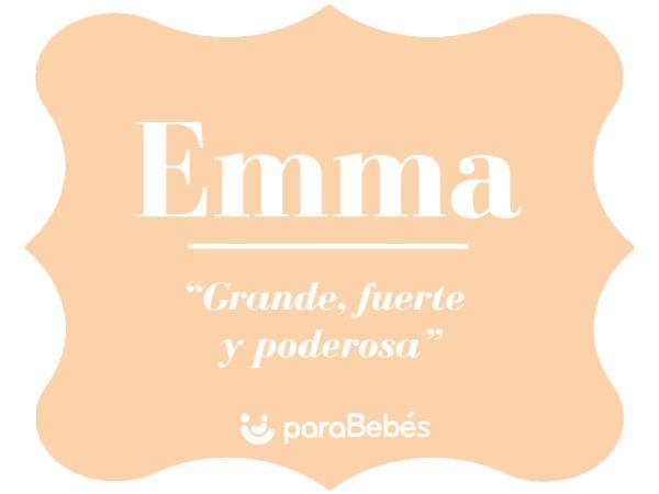 Significado del nombre Emma