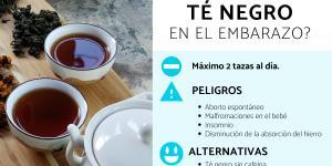 ¿Se puede tomar té negro en el embarazo?