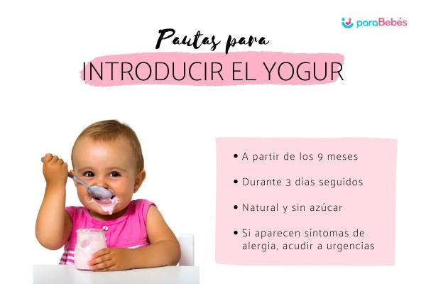 ¿Cuándo dar yogur al bebé?
