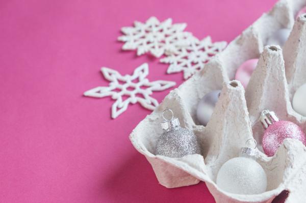 Manualidades de Navidad para niños fáciles - Árbol de Navidad con cartón de huevos