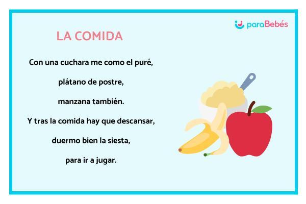 Poesías para niños - La comida