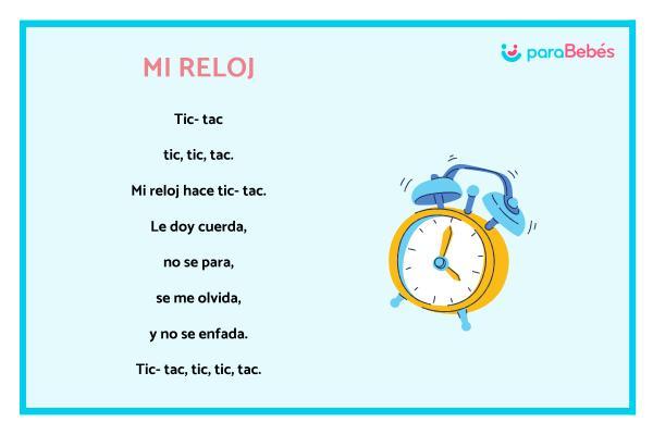 Poesías para niños - Mi reloj