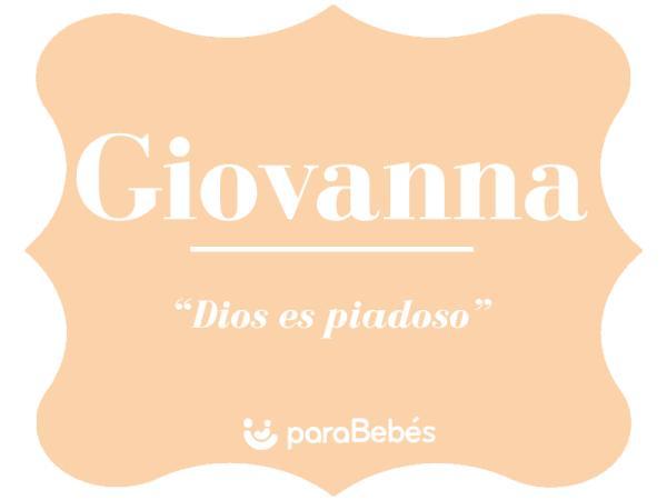 Significado del nombre Giovanna