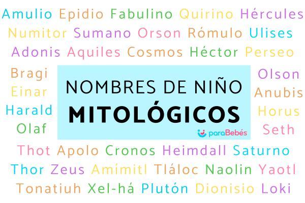 Nombres mitológicos para niños
