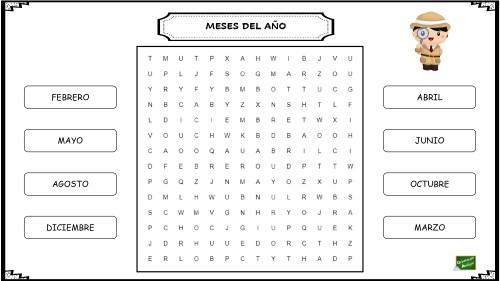 Juegos para niños con dislexia - Sopas de letras