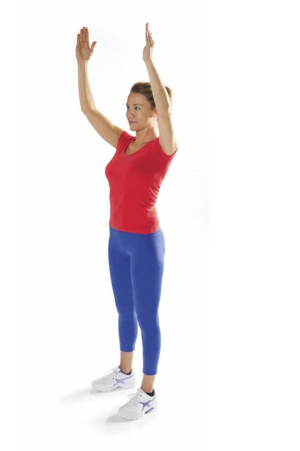 Ejercicios hipopresivos postparto - Sube los brazos y abre las costillas