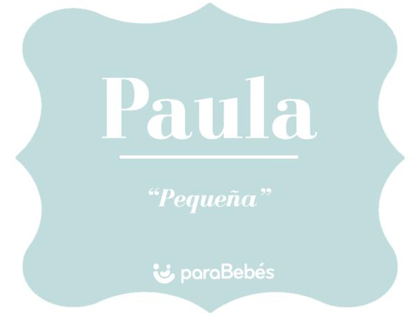 Significado del nombre Paula