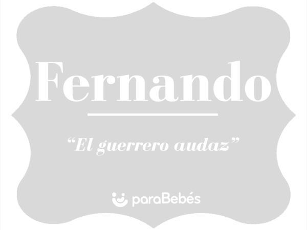 Significado del nombre Fernando