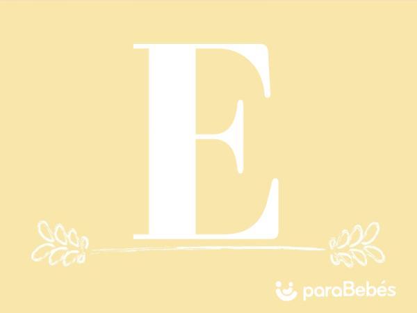 Nombres de niño con la letra E