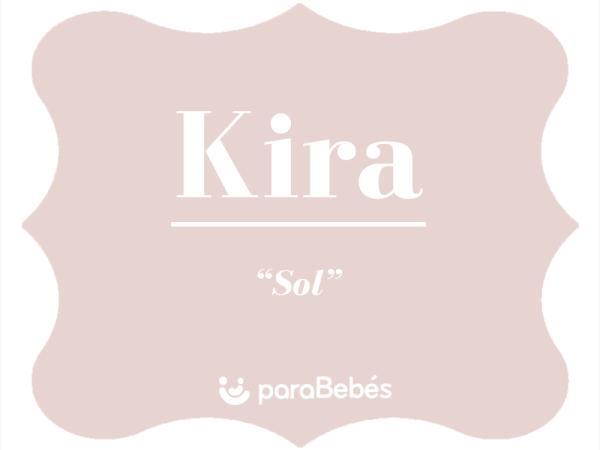 Significado del nombre Kira
