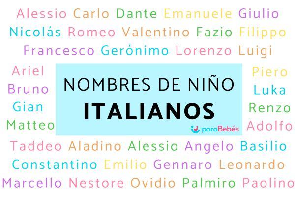 Nombres de niño italianos