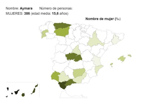 Significado del nombre Aymara - Popularidad del nombre Aymara