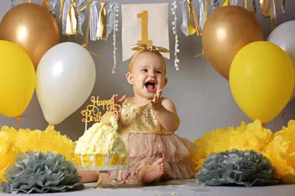 Ideas para el primer cumpleaños de un bebé - Fotografías divertidas