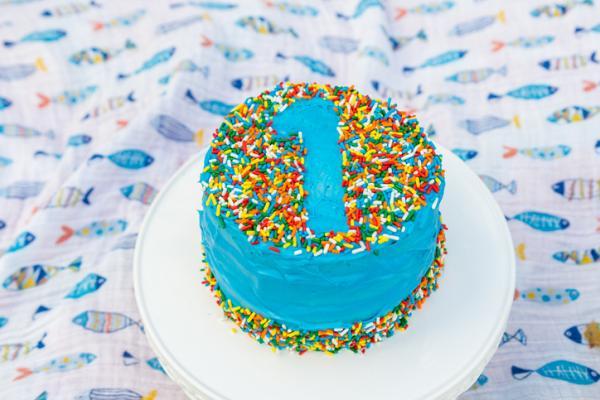 Ideas para el primer cumpleaños de un bebé - Tarta