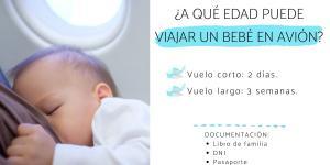 A qué edad puede viajar un bebé en avión
