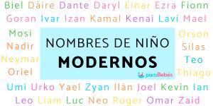 Nombres de niños modernos