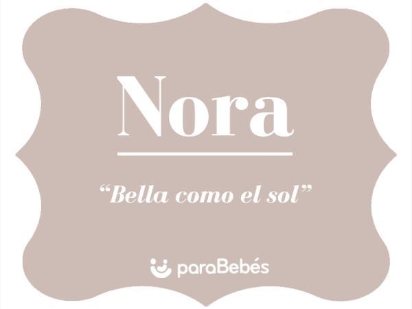 Significado del nombre Nora