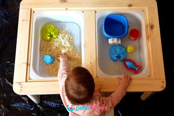 Juegos para bebés de 1 año - Arena mágica