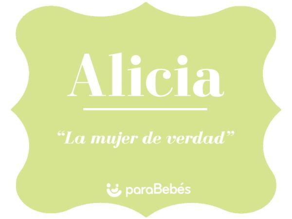 Significado del nombre Alicia