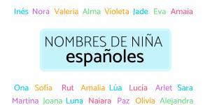 Nombres de niña españoles