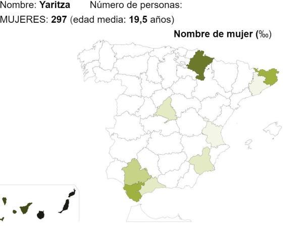 Significado del nombre Yaritza - Popularidad del nombre Yaritza