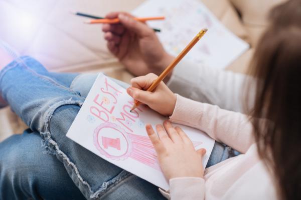 Manualidades para el día de la madre - Tarjeta con mucho amor