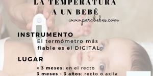 Cómo tomar la temperatura a un bebé