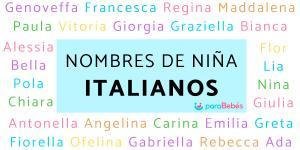 Nombres de niña italianos