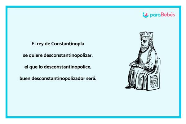 Trabalenguas infantiles - El rey de Constantinopla