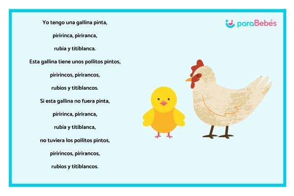 Trabalenguas infantiles - La gallina pinta