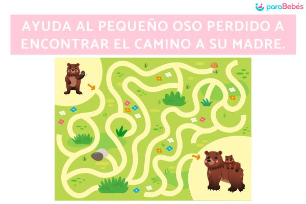 Actividades para mejorar la atención en los niños de 3 a 4 años - Laberintos