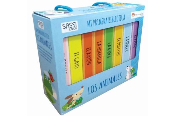 Cuentos para bebés de 3 meses - Animales bebés: mi pimera biblioteca, editorial Manolito
