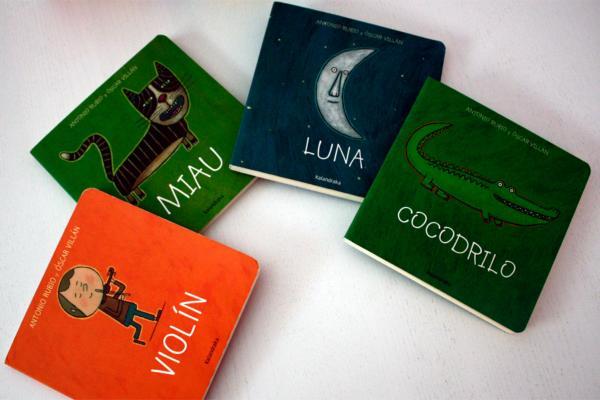 Cuentos para bebés de 3 meses - Luna, colección de la Luna a la cuna. Editorial Kalandraka