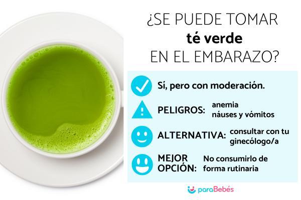 ¿Se puede tomar té verde en el embarazo?