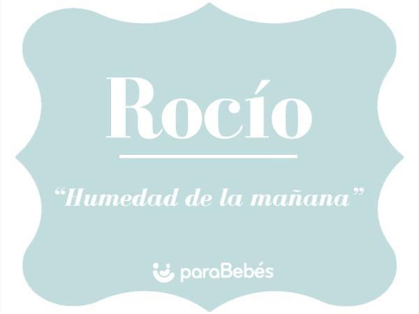 Significado del nombre Rocío