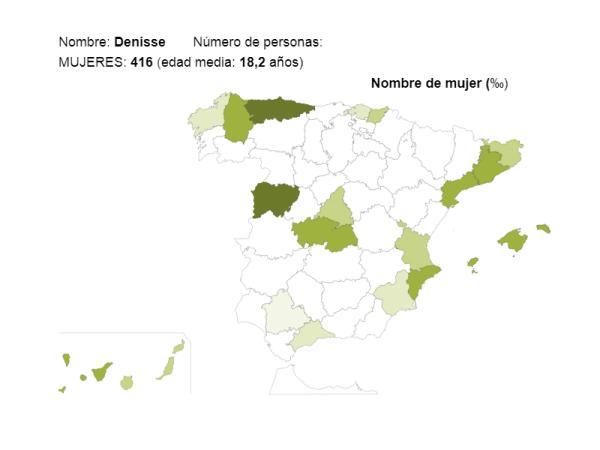 Significado del nombre Denisse - Popularidad del nombre Denisse