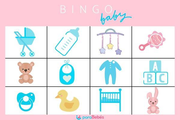 Juegos para un baby shower - Bingo