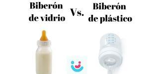 ¿Qué es mejor el biberón de vidrio o el de plástico?