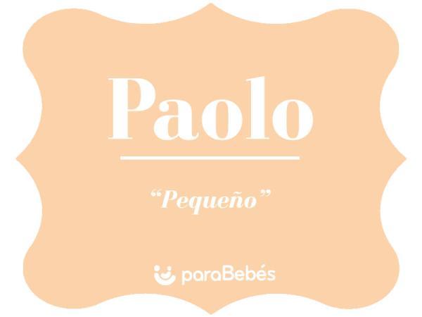 Significado del nombre Paolo