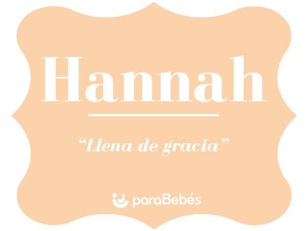 Significado del nombre Hannah