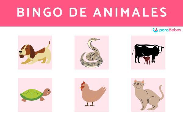 Juegos para fiestas infantiles originales - Bingo de animales